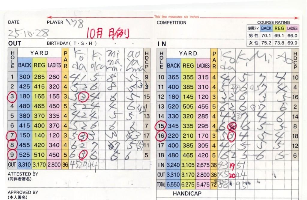 宝塚高原10月月例
