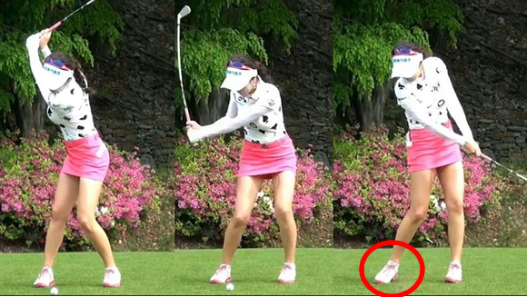 韓国美人ゴルファー画像