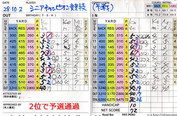シニアチャンピオン競技 宝塚高原ゴルフ