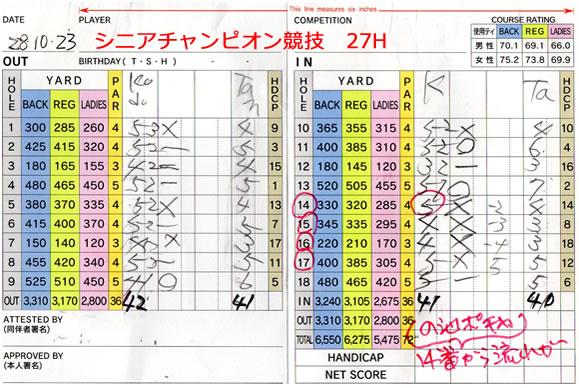 宝塚高原ゴルフシニアチャンピオン競技 決勝戦