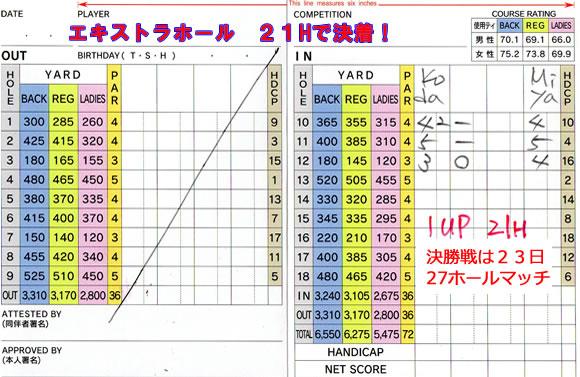シニアチャンピオン競技 宝塚高原ゴルフクラブ
