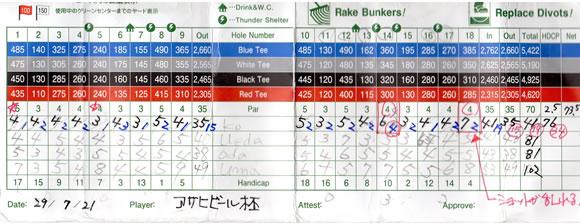 高槻ゴルフクラブ アサヒビール杯