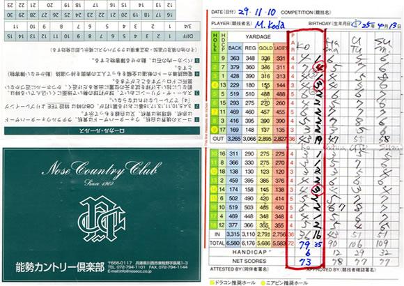 能勢カントリークラブ攻め方 北遊会ゴルフ