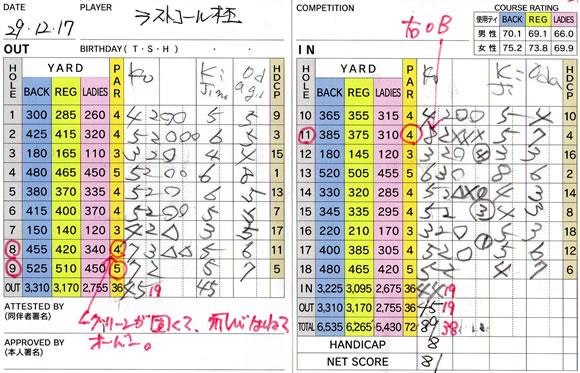 宝塚高原ゴルフ ラストコール杯