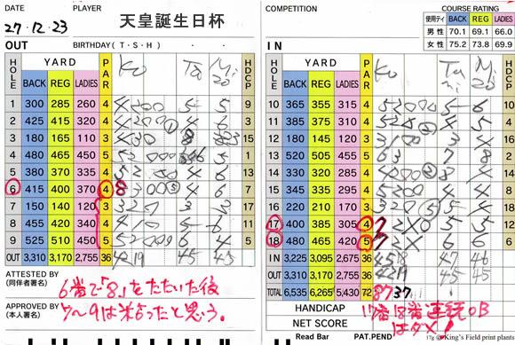 天皇誕生日杯 宝塚高原ゴルフ場