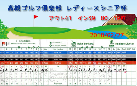 高槻ゴルフ倶楽部 レディースシニア杯