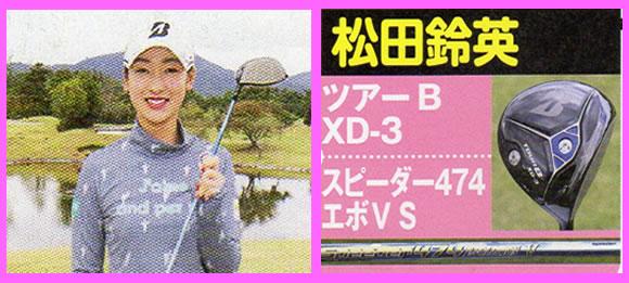 松田鈴英使用ドライバーとシャフト