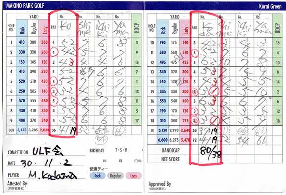牧野ゴルフULF会ゴルフコンペ