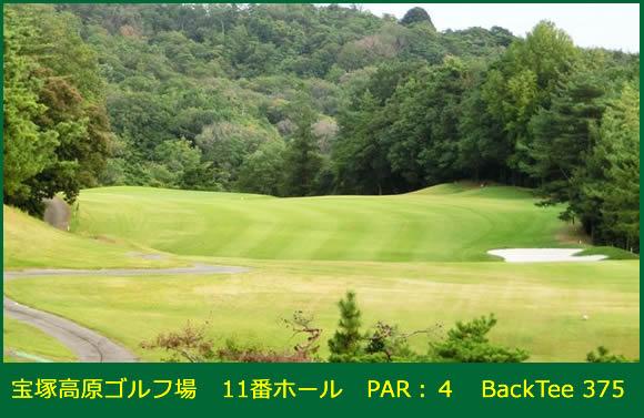 宝塚高原ゴルフ場 11番ホール