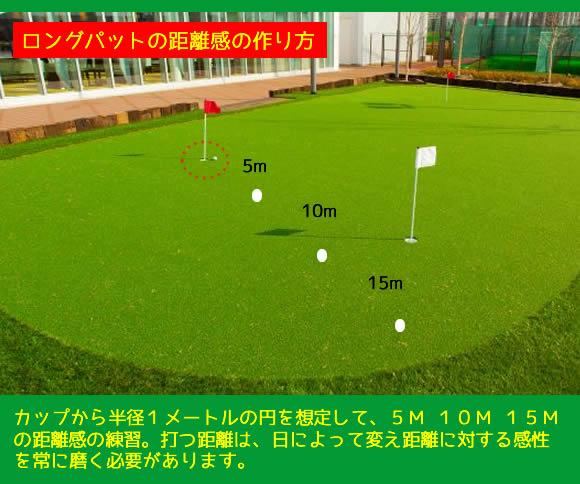 渋野プロロングパット練習